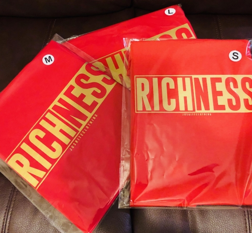 JRC RICHNESS T-Shirt ( Red & Gold)